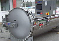 Shower type autoclaves